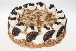 Kávový dort . Jemný kávový krém + pravá šlehačka Ø 23 cm 450 Kč,    Ø 15 cm 270 Kč .Termín objednání 2 dny.