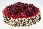 Smetanový dort ovocný.  Jemný krém + jahody. Ø 23 cm 450 Kč,    Ø 15 cm 270 Kč .Termín objednání 2 dny.